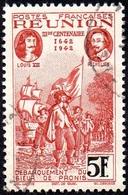 Réunion Obl. N° 184 - Rattachement à La France 5 Frs Rouge-brun Et Noir - Réunion (1852-1975)