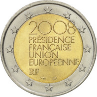 France, 2 Euro, European Union Presidency, 2008, SUP+, Bi-Metallic, KM:1459 - France