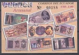 Ecuador 2003 Mi Bl 173 MNH ( ZS3 ECDbl173 ) - Jobs