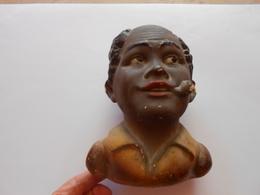 Tirelire Tête Africaine En Plâtre à Casser - - Art Populaire