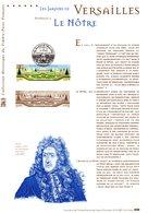 """"""" JARDINS DE VERSAILLES / LE NOTRE """" Sur Document Philatélique Officiel De 2001  N° YT 3389. DPO - Documentos Del Correo"""