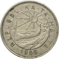 Monnaie, Malte, 25 Cents, 1986, TTB, Copper-nickel, KM:80 - Malta
