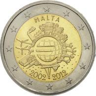 Malte, 2 Euro, 10 Jahre Euro, 2012, SUP+, Bi-Metallic, KM:139 - Malta