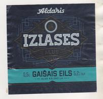 BIERE ETIQUETTE IZLASES ALUS -   BRASSERIE ALDARIS A RIGA LETTONIE - VOIR LE SCANNER - Beer