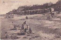LANGRUNE EN CALVADOS VUE GENERALE DE LA DIGUE  CPA  CIRCULEE - France