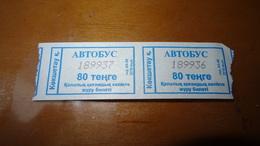 Bus Ticket From Kokschatau KAZACHSTAN - Bus Fahrkarte - Transports