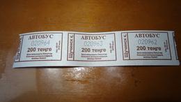 Bus Ticket From Szuczinsk KAZACHSTAN - Bus Fahrkarte - Transports