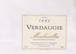 ETIQUETTE DE VIN MONBAZILLAC 1993! - Monbazillac
