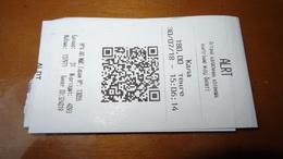 Bus Ticket From Astana KAZACHSTAN - Bus Fahrkarte - Transports