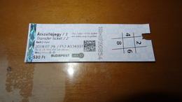 Metro Ticket From HUNGARY (Budapest) 530 Ft - U-bahn Fahrkarte Year 2018 - Transports
