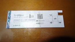 Metro Ticket From HUNGARY (Budapest) 3000 Ft - U-bahn Fahrkarte Year 2018 - Transports