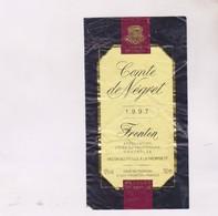 ETIQUETTE DE VIN FRONTON, COMTE DE NEGREL 1997! - Red Wines