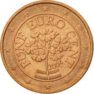Autriche, 5 Euro Cent, 2004, TTB, Copper Plated Steel, KM:3084 - Autriche