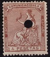 ESPAÑA. EDIFIL 139. MNG(*) NUEVO SIN GOMA. BIEN CONSERVADO - Nuevos