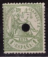 ESPAÑA. EDIFIL 150 T. TALADRO. MNG(*) NUEVO SIN GOMA. BIEN CONSERVADO - 1873-74 Regentschaft