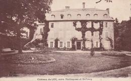 Cpa Dept 15 - Château De Luc, Entre Vieillespesse Et St-poncy (voir Scan Recto-verso) - France