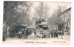D  84  -  SAINTE - CECILE -  PLACE DE LA  CONCORDE - VOITURE - AUTOBUS    -  5961 - France