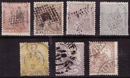 ESPAÑA. 1874. ALEGORIA. SELLOS USADOS. BIEN CONSERVADOS - 1873-74 Regencia