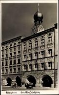 Cp Rosenheim Im Alpenvorland Oberbayern, Am Max Josefsplatz, Häuserfassaden, Kirchturm, Auto - Andere