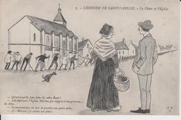 NIEVRE - LEGENDE DE SAINT SAULGE -  7 - Le Chien Et L'Eglise ( - Carte écrite En 1916 ) - Autres Communes