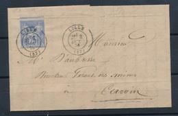 CE-14 FRANCE: Lot Avec N°68 Seul Sur Lettre Du 3/10/1976 (léger Piquage à Cheval) - 1876-1878 Sage (Typ I)