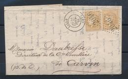 CE-15 FRANCE: Lot Avec N°43A (2) Sur Lettre Du 25/2/1871  (1er Timbre, Court à Gauche) - 1870 Emissione Di Bordeaux