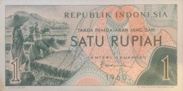 Indonesia 1 Rupiah, P-76 (1960) - UNC - Indonésie
