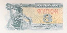 Ukraine 3 Karbovanetz, P-82a (1991) - UNC - Ukraine