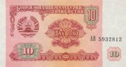 Tadjikistan 10 Ruble, P-3 (1994) - UNC - Tadjikistan