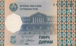 Tadjikistan 5 Dirham, P-11 (1999) - UNC - Tadschikistan
