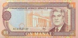 Turkmenistan 10 Manat, P-3 (1993) - UNC - Turkmenistan