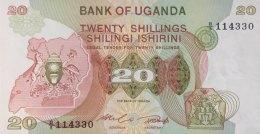 Uganda 20 Shillings, P-17 (1982) - UNC - Uganda