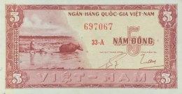 Vietnam South 5 Dong, P-13a (1955) - UNC - Vietnam