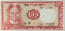 Vietnam South 100 Dong, P-19a (1964) - Very Fine - Vietnam