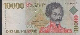 Venezuela 10.000 Bolivares, P-81 (10.2.1998) - Very Fine - Venezuela