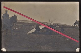 """76 LE HAVRE -- Avion, Aviation _ Crash Du Monoplan De """"MORANE"""" _ Aérodrome De Graville _ Aviateur _ Cheval _ Carte Photo - Photographs"""