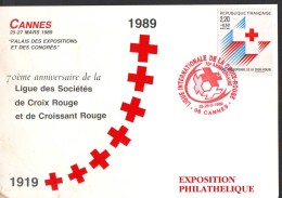 Croce Rossa -Red Cross - Croix Rouge, 70°  Cannes 1989 - Francia