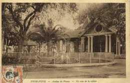 PNOM PENH  Jardins Du Phom Un Coin De La Volière + Beau Timbre 4 Indo Chine RV - Cambodia