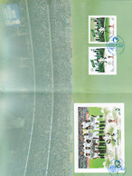 Saudi Arabia New Issue 2018 Worl Cup Russia Prestige Folder Set+ S.sheet With 1st Day Cancelat-Limited- SKRILL PAY ONLY - Saudi Arabia
