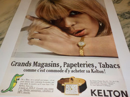 ANCIENNE PUBLICITE MONTRE KELTON  1966 - Bijoux & Horlogerie