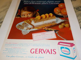 ANCIENNE PUBLICITE GLACE DE GERVAIS  1966 - Posters