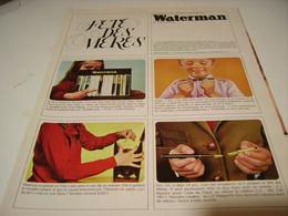 ANCIENNE PUBLICITE FETE DES MERES  STYLO WATERMAN  1966 - Autres