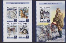 Solomon Islands 2016 Sled Dog Chien MNH 1SS+1sheet Imperforate - Solomon Islands (1978-...)