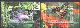 Tonga 2016 Yvertn°  Bloc 84A-84B *** MNH Cote 162,50 Euro Faune Papillons Vlinders Butterflies - Tonga (1970-...)