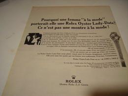 PUBLICITE AFFICHE MONTRE ROLEX OYSTER POUR FEMME 1966 - Autres
