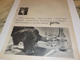 ANCIENNE PUBLICITE PERRIER MES AMOURS 1966 - Posters