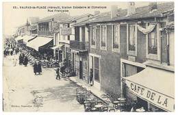Cpa Valras La Plage - Station Balnéaire Et Climatique - Rue Française - France