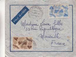 France - Côte Françaises Des Somalis - Lettre De 1948 - Oblit Djibouti - Exp Vers Marseille - Trains - Valeur 25 Euros - Französich-Somaliküste (1894-1967)