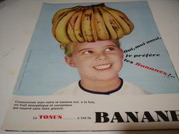 ANCIENNE PUBLICITE LE TONUS C EST LA BANANE 1966 - Posters