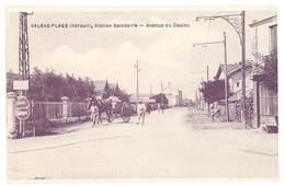 Cpa Valras La Plage - Station Balnéaire - Avenue Du Casino - France